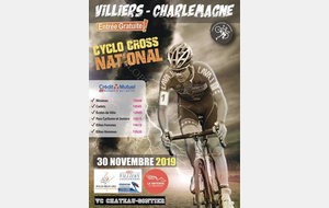 CYCLO-CROSS NATIONAL A VILLIERS CHARLEMAGNE SAMEDI 30 NOVEMBRE